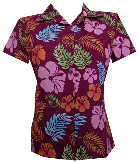 womens hawaiian shirts blouses hawaiian shirt floral leaf print aloha top