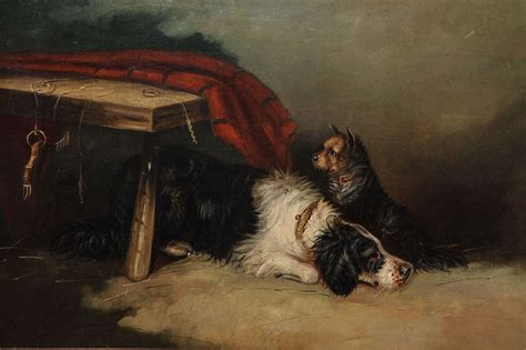 19th Century English Oil On Canvas Dog Painting For Sale