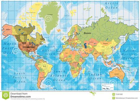 Carte Du Monde Avec Nom Des Pays Et Océans by Carte D 233 Taill 233 E Du Monde Avec Tous Les Noms Des Pays