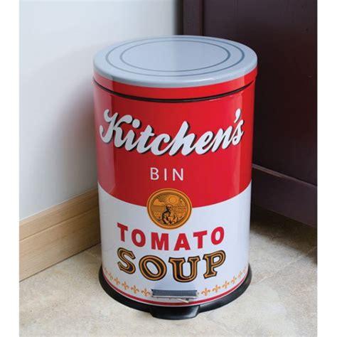 poubelle cuisine originale poubelle de cuisine tomato soup