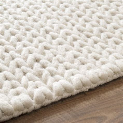 nuloom handmade casual braided wool area rug white rug