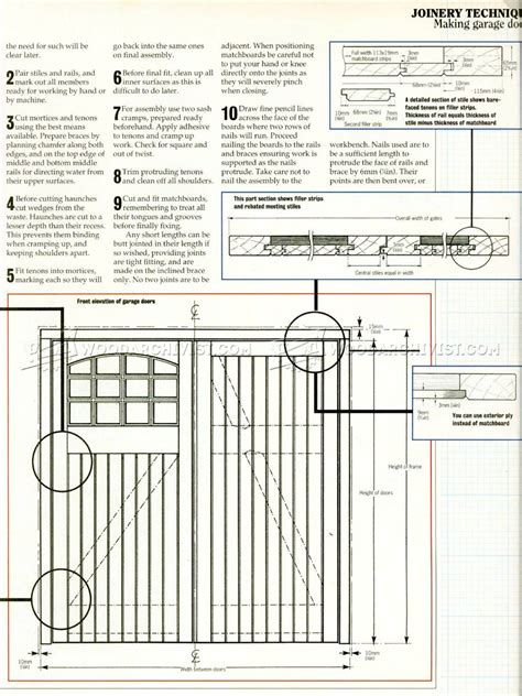 garage door plans woodarchivist
