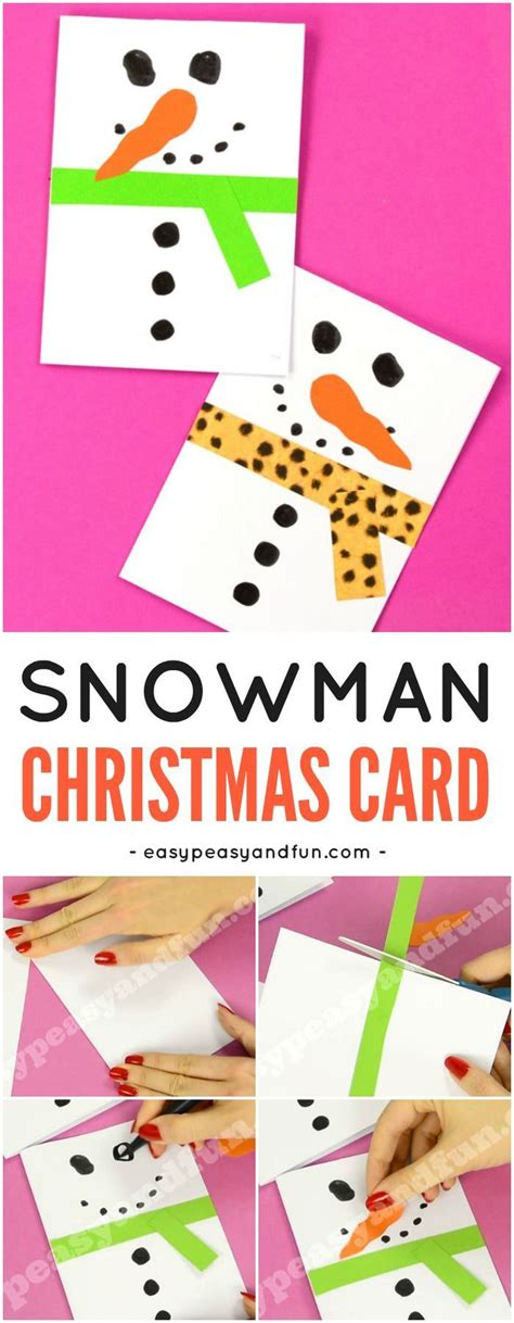 snowman christmas card christmas card crafts diy