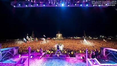 Maiden Iron Concert Stage Rock Wallpapers Crowd