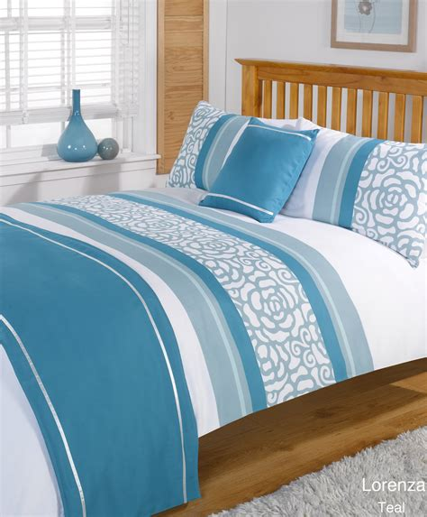 Duvet Quilt Bedding Bed In A Bag Teal Single Double King