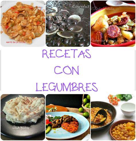 cinco recetas  legumbres cocina