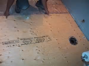 bathrom floor tiling project floor preparation completed