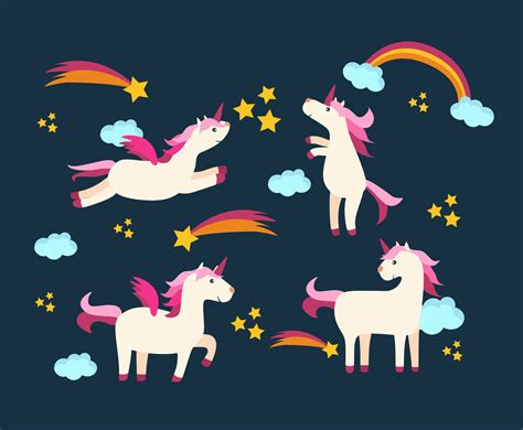 Unicorns In The Sky Vector