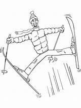 Skiing Coloring Ausmalbilder Printable Ski Kinder Malvorlagen Zum sketch template