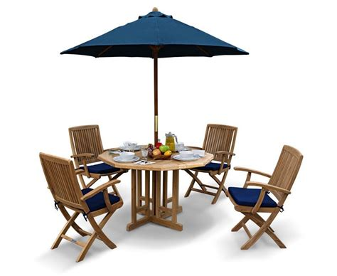 rimini garden octagonal gateleg table and arm chairs set