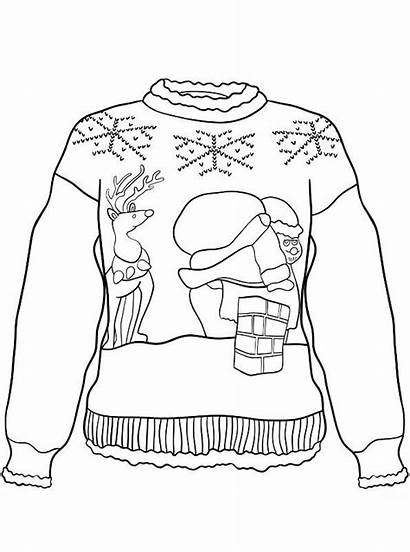 Kersttrui Kerst Foute Sweater Fun Ugly Coloring
