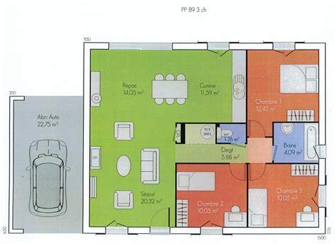 plan de maison 2 chambres plans de maisons modernes de 3 chambres maison moderne