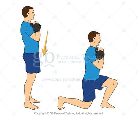 kettlebell exercises lunge reverse racked beginner advanced lunges side exercise