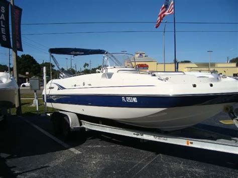Hurricane Deck Boat On Choppy Water by Powerboats For Sale In Ta Florida