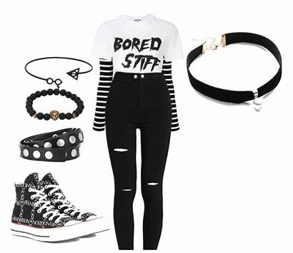 Emo Outfit Outfits Summer Shoplook Overshadowed Editing
