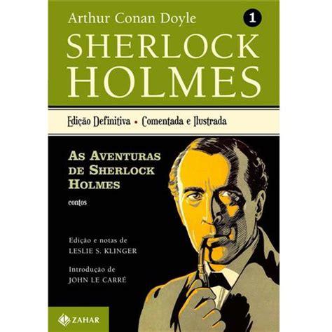 sherlock holmes aventuras volume livro livros policial casasbahia detalhes zahar