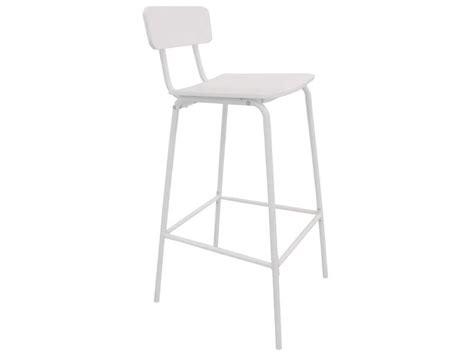 chaise de bar blanc tabouret de bar coloris blanc vente de chaise de cuisine conforama