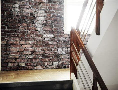 exposed brickwork wallpaper 1000 images about faux brick ideas on pinterest faux brick brick wallpaper and bricks