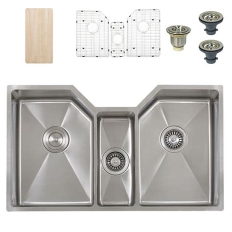 what is a triple bowl sink used for ticor tr1500 undermount stainless triple bowl square