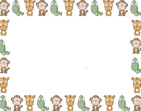 Animal Border Wallpaper - baby safari wallpaper wallpapersafari