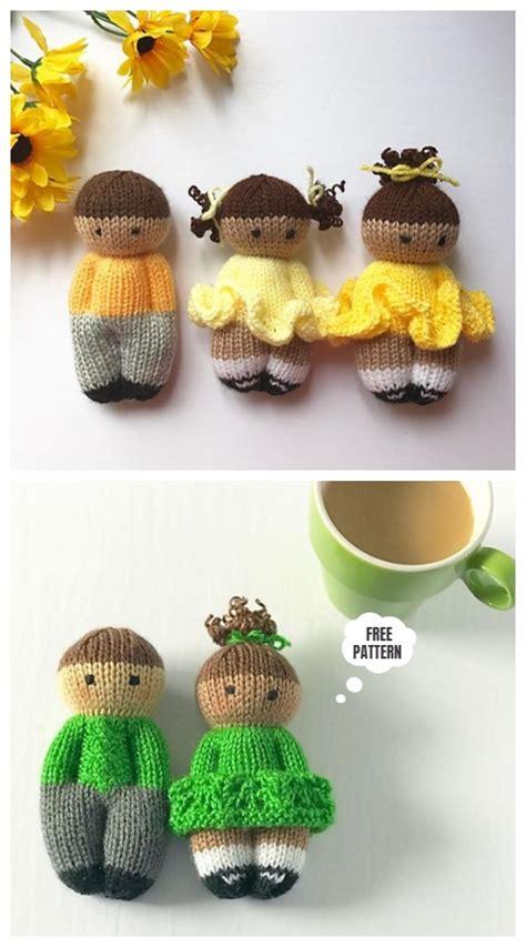 knit  piece izzy buddy dolls toy knitting patterns