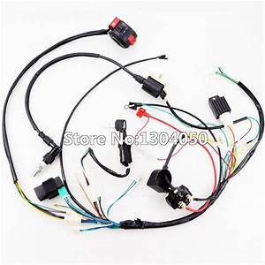 Full Electrics Wiring Harness Cdi Ignition Coil Spark Plug