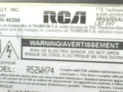 is a replacement bulb for my 2006 rca hdtv r52wh74 rca