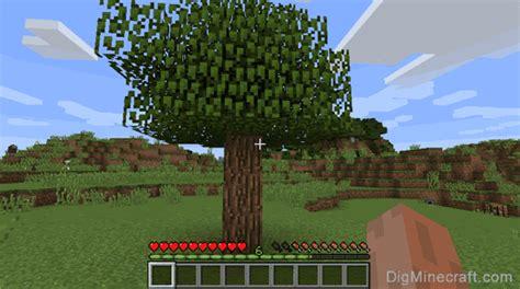 chop  tree  minecraft