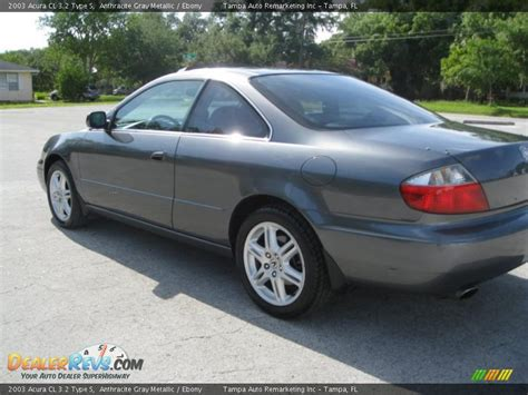 2003 acura cl 3 2 type s anthracite gray metallic ebony