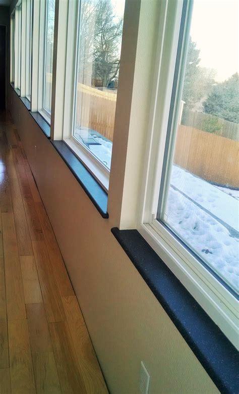 Wood Sills Window by Custom Corian Or Hi Macs Window Sills