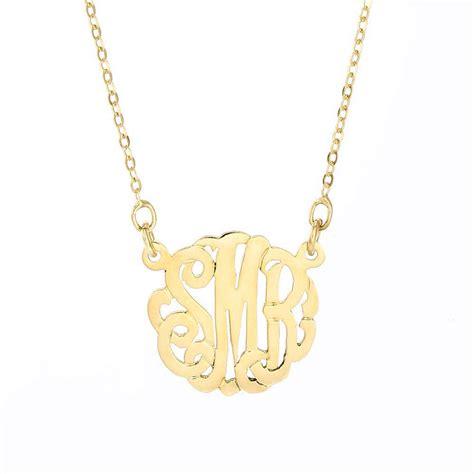 petite monogram gold necklace eves addiction