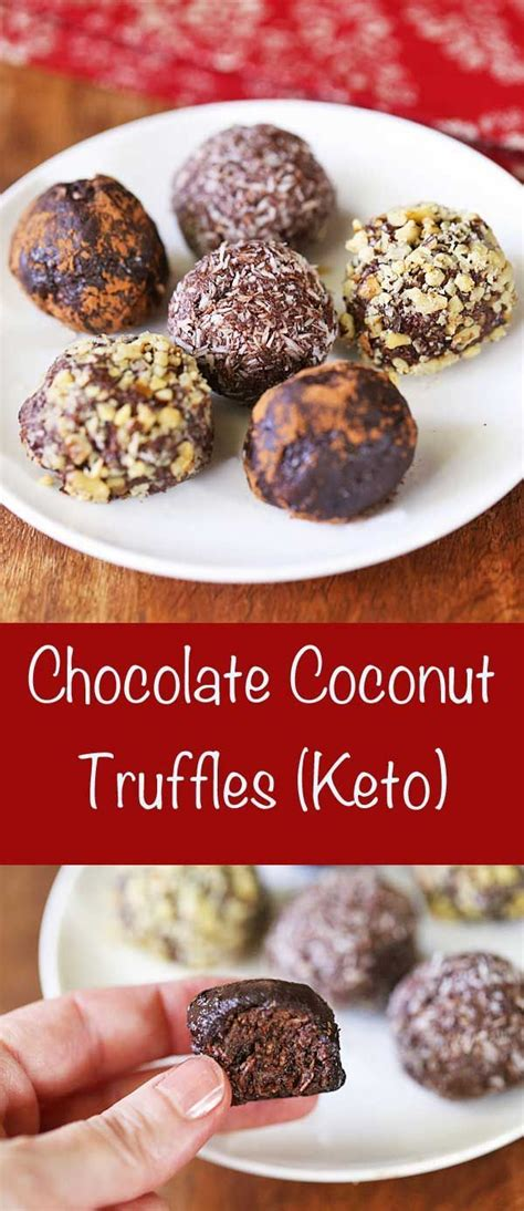 Peanut butter + coconut oil + pinch salt. Rich chocolate coconut truffles are made with coconut oil ...