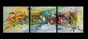 Tableau En 5 Parties : triptyque multicolore ~ Dailycaller-alerts.com Idées de Décoration