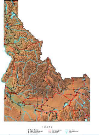 idaho map  maps  idaho state
