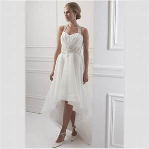 white organza wedding dress short front long back 2015 With short in the front long in the back wedding dresses