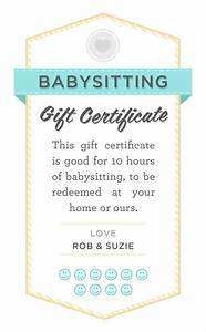 Babysitting gift certificate download fully customizable psd or pdf arts crafts for Babysitting gift certificate