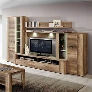 Moderne Wohnzimmer Schrankwand : tv wand in eiche antik dekor beleuchtung 5 teilig jetzt bestellen unter https moebel ~ Markanthonyermac.com Haus und Dekorationen
