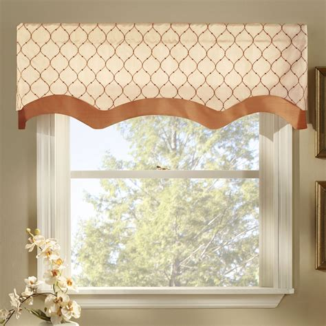 Window Valance by Bleeker Embroidered Layered Window Valance