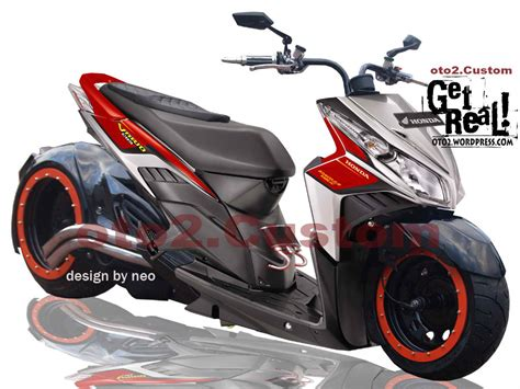 Modifikasi Motor by Foto Modifikasi Honda Vario 2010 Gambar Foto Modifikasi