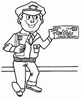 Mailman Coloring Pages Mail Carrier Postman Preschool Community Office Helpers Drawing Printable Google Books Getdrawings Template Colouring Letter Sheets Truck sketch template