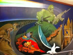 the freaky murals at denver international airport boing