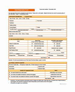 10 sample reservation forms sample templates With accommodation booking form template
