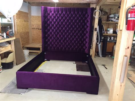 wingback tufted bed king size queen size full size by