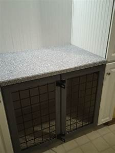 built in dog crate dog beds pinterest laundry rooms With two room dog crate