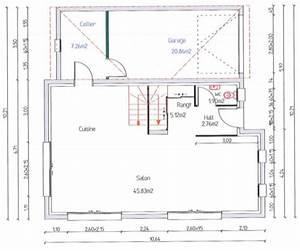 plan maison etage 110m2 With plan de maison 110m2