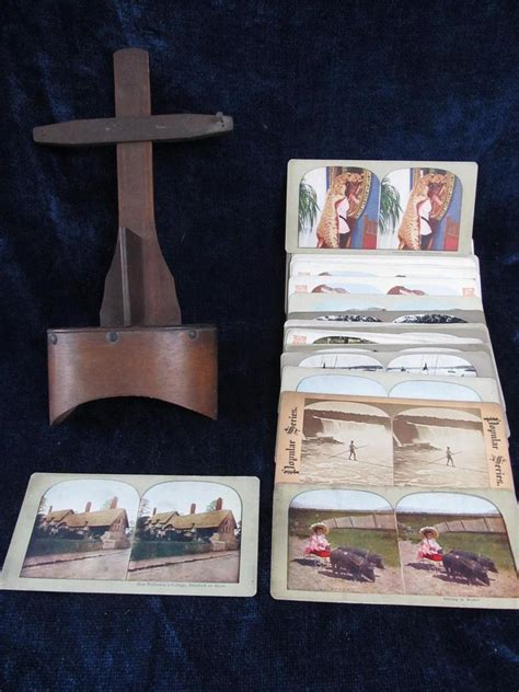 The stereograph, or stereo view, consisted of a double set of paper prints mounted on card stock to be viewed through a stereoscope to produce a three dimensional image. Auction Ohio | STEREOSCOPE & CARDS