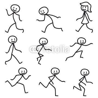 gesichter malen für kinder strichm 228 nnchen laufend rennend handbelettering