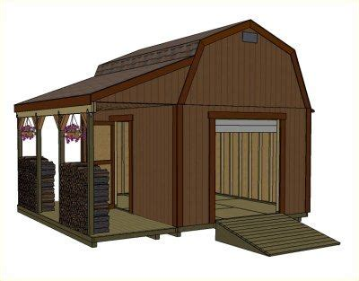 12x16 barn with porch small barn plans mini barns garages sheds porches