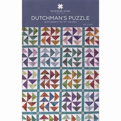 Puzzle Pattern Quilt Missouri Star Dutchmans Dutchman