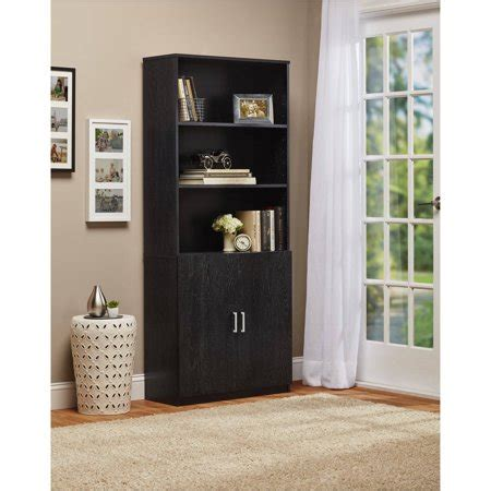Walmart Bookcase With Glass Doors by Ameriwood 3 Shelf Bookcase With Doors Walmart